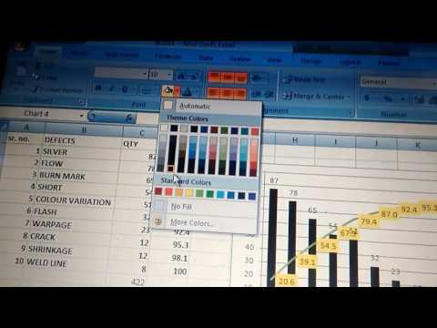 how to create pareto chart in excel 2010