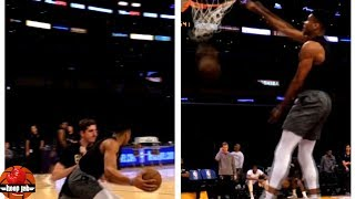 Giannis Antetokounmpo Post Moves Workout With Sick Powerful Dunk. HoopJab NBA