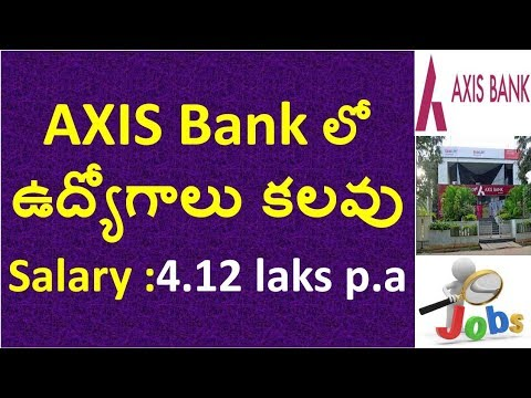 Axis Bank Job Notification 2018 Details In Telugu   Latest Job updates 2018