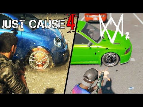 Just Cause 4 Vs. Watch Dogs 2- Side By Side Gameplay And Graphics Comparison