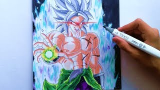 Como Dibujar a BROLY Migatte no Gokui Dragon Ball Super pelicula 2019/ Drawing New Broly DBS