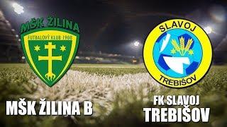 Zilina B vs Slavoj Trebisov full match