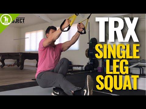How To Do A TRX Squat— Single Leg [TRX LEG WORKOUT]
