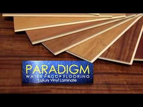 paradigm waterproof flooring - youtube