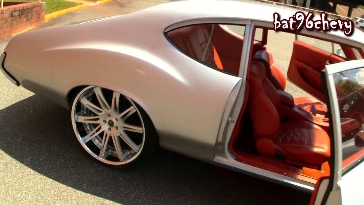 1972 oldsmobile cutlass on 24 savini forged wheels infiniti dash custom interior hd youtube. Black Bedroom Furniture Sets. Home Design Ideas