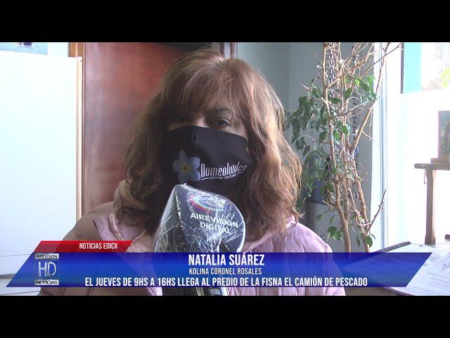 Natalia Suárez  El jueves llega el camión de pescado al predio de la FISNA