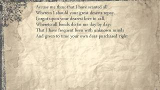Sonnet 117: Accuse me thus: that I have scanted all