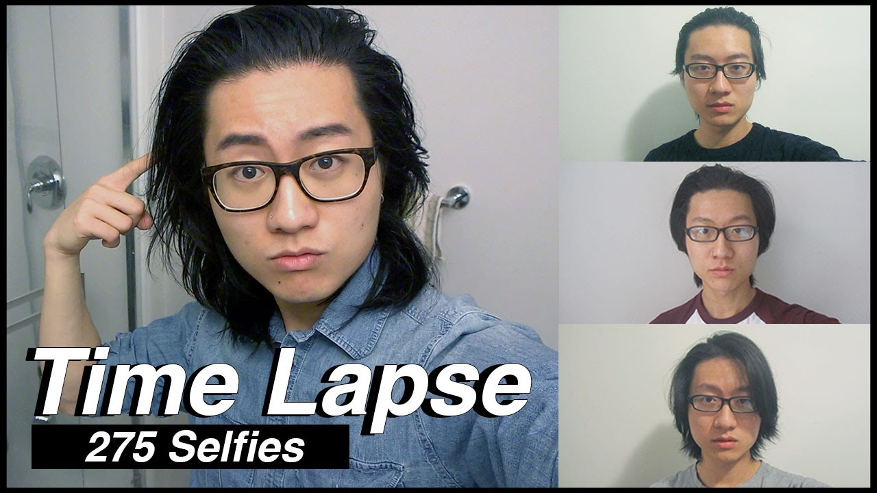 Growing my Hair for 9 Months TIME LAPSE (275 Selfies ...