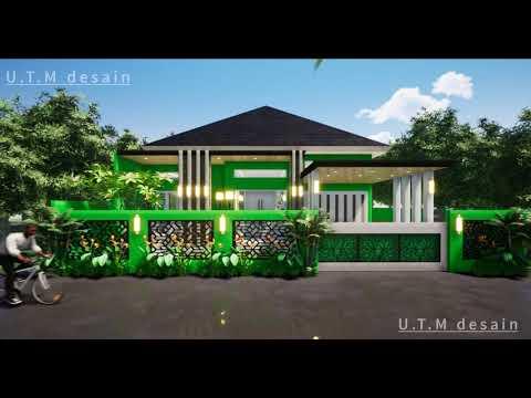 desain rumah minimalis modern tropis 1 lantai atap limas