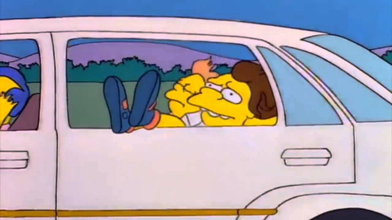 Bart Simpson Driving A Car
