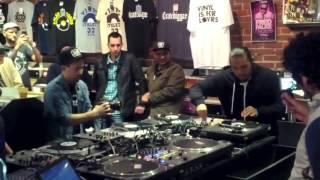 DJ Wundrkut at Beatstreet Records, Vancouver BC