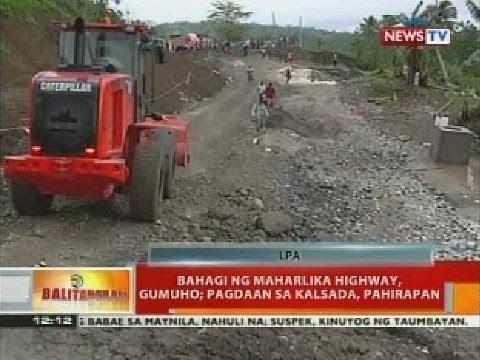 BT: Bahagi ng Maharlika highway, gumuho