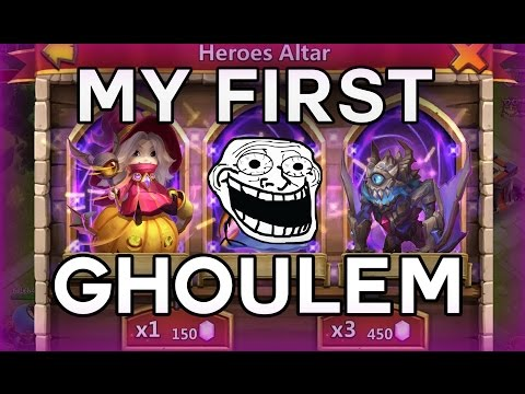 Castle Clash : Rolling 20k Gems For Ghoulem , Lil Nick And Trixie Treat ! OMG FINALLY