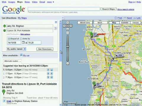 Direction Map Australia.Transit On Google Maps Australia