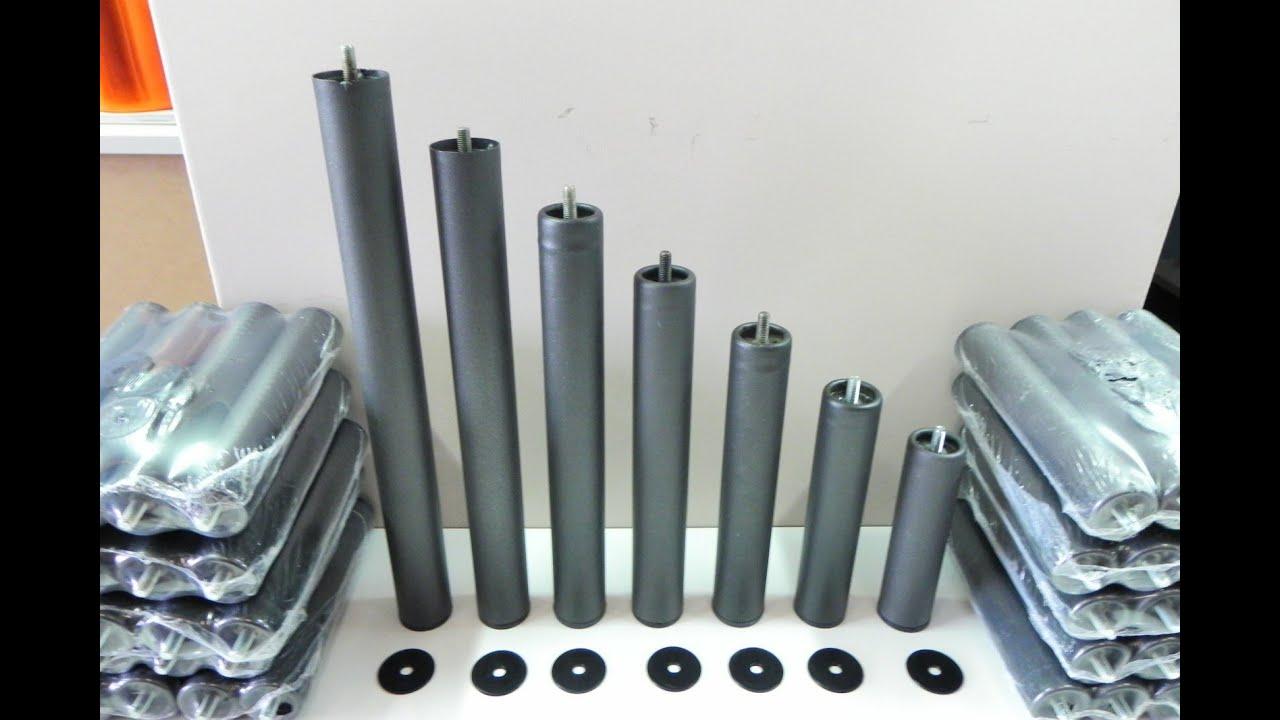 Patas metalicas con rosca, de diferentes alturas, para somieres y