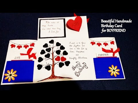 Beautiful Handmade Birthday Card For Boyfriend Special Birthday