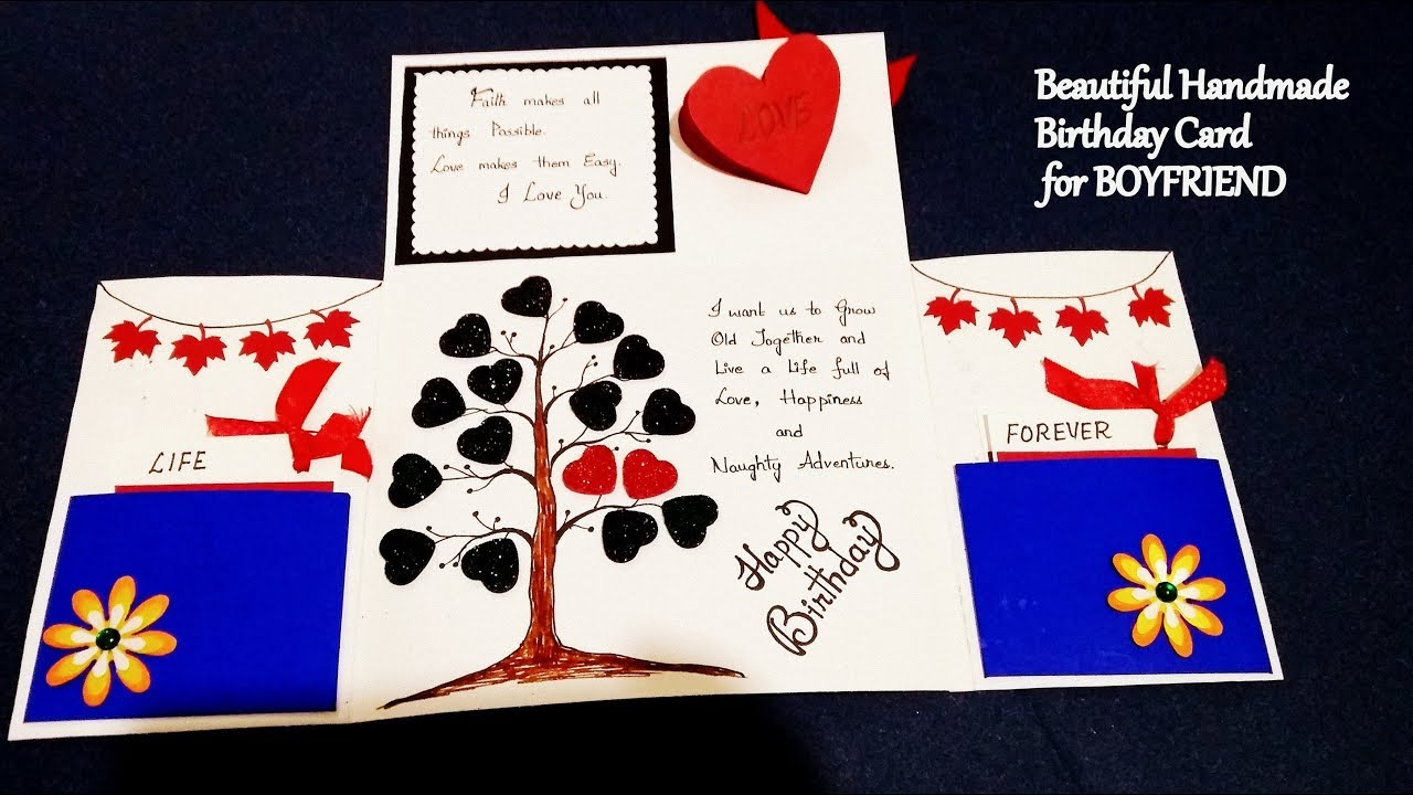 Beautiful Handmade Birthday Card For BOYFRIEND