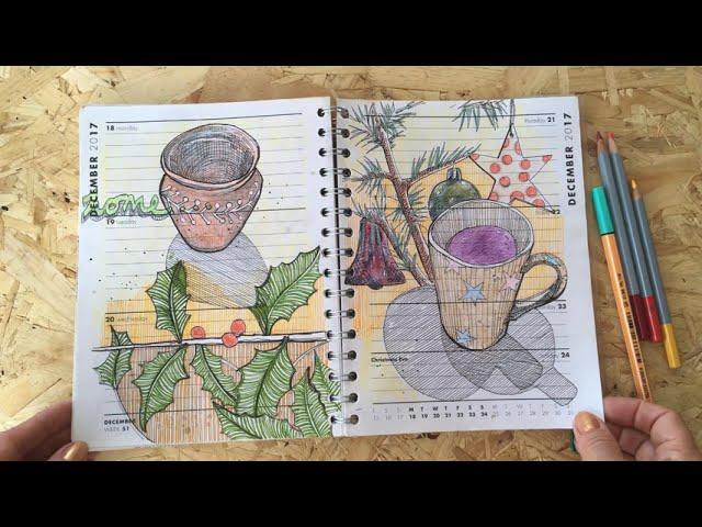 Drawing Diary 2017 flip through