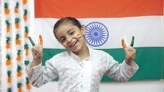 Indian girl rejoicing Independence Day with her painting skills - kids lifestyle