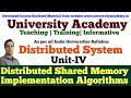 L15: Distributed Shared Memory| Algorithm for implementation Shared Memory| Central-Server Algorithm