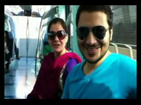 Khursheed Khan And Meena Shams Dubai Metro Train