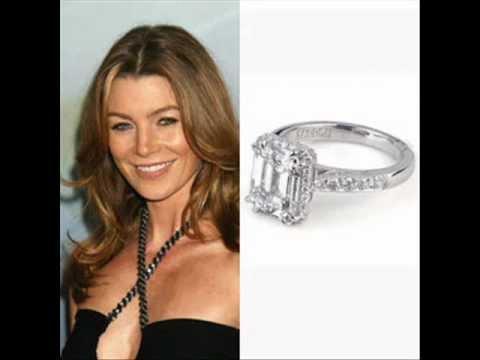 Celebrity Ellen Pompeos Engagement Ring YouTube