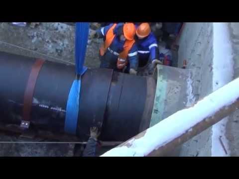 Бестраншейная Прокладка Трубопровода ДУ 1000 мм из ВЧШГ Методом Проталкивания в Футляре.