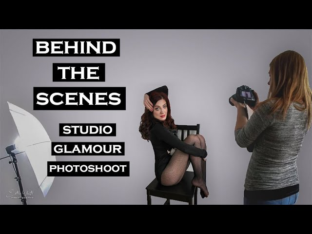 Behind The Scenes Glamour Photoshoot - Elly & MUA | Estee White Photography