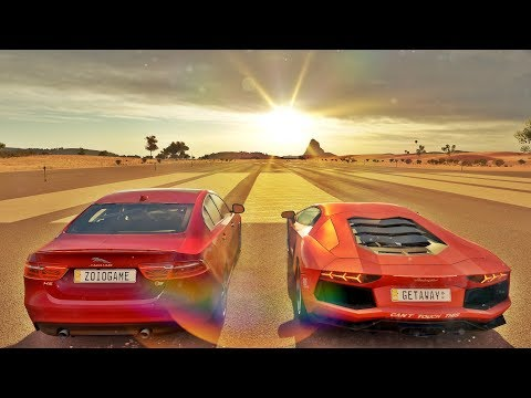 Aventador VS Jaguar XE-S V12 BiTurbo - Será o Fim Da Ventador? - Forza Horizon 3 - ZOIOOGAMER