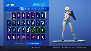 FORTNITE *FINESSE FINISHER* SKIN SHOWCASE (ALL COUNTRIES, BACKBLINGS, EMOTES)