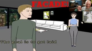 Facade Funny Indie Game Gameplay Video | Can I Finally Not Piss Off Trip and Finish A Facade Game?