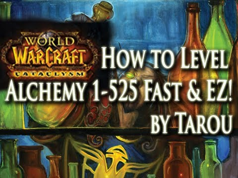 How to Level Alchemy 1-525 Fast & Easy in World of Warcraft!