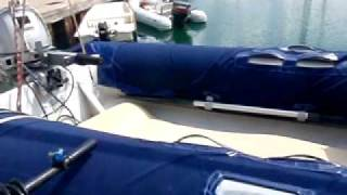 Siren's Song Catamaran Video of the deck & dinghy