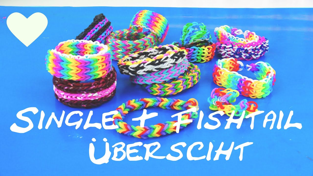 loom bands anleitung deutsch welche fishtail armb nder und single bracelets gibt es bersicht. Black Bedroom Furniture Sets. Home Design Ideas