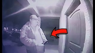 A Mysterious Man Turned Up At A Woman's House Past Midnight. But A Camera Caught What He Left Behind