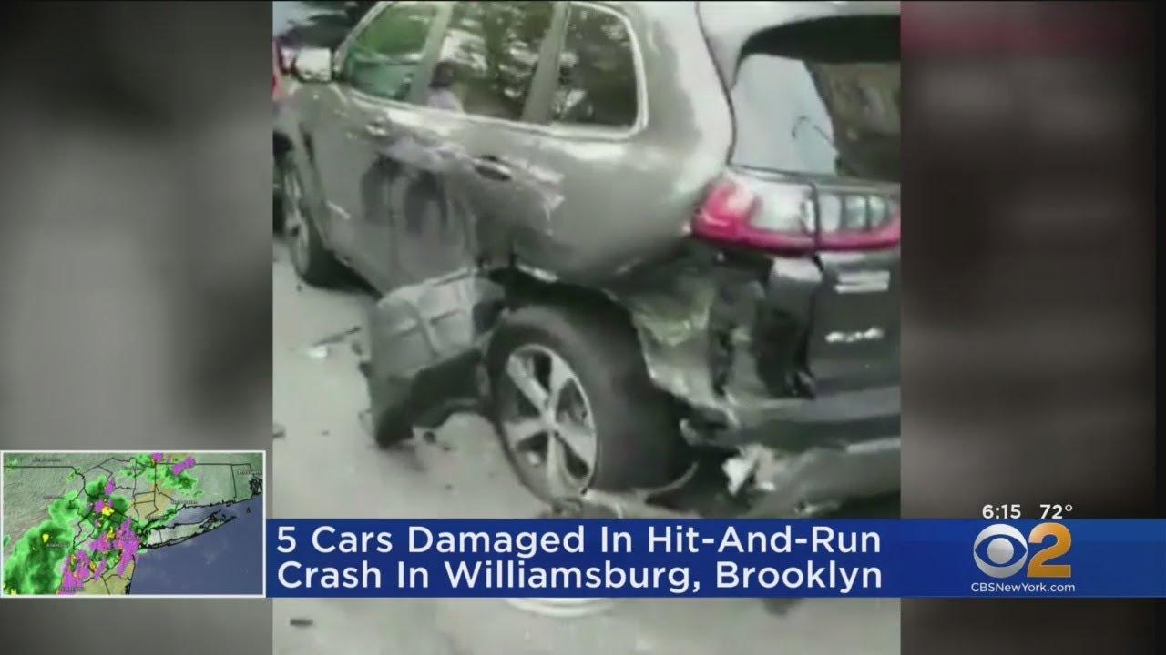 Driver Leaves Scene Of Chain Reaction Crash