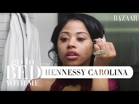 Hennessy Carolina's Nighttime Skincare Routine | Go To Bed With Me | Harper's BAZAAR