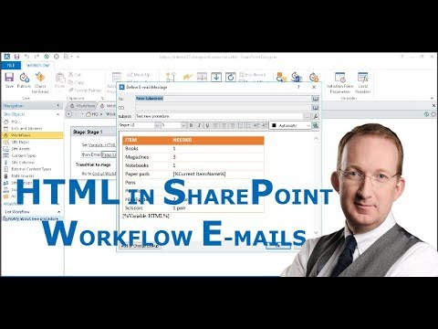 HTML Code In Workflow Generated E-mails