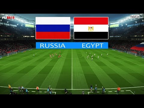 PES 2018 | RUSSIA vs EGYPT | Full Match & Amazing Goals | Gameplay PC | روسيا ضد مصر