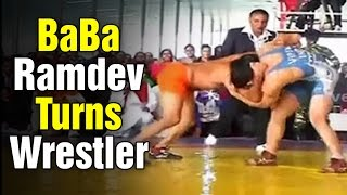 Yoga Guru Baba Ramdev turns wrestler in Haridwar (05-01-2015)