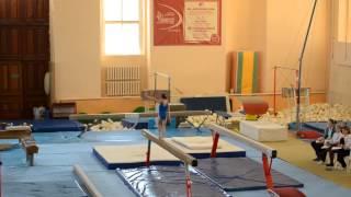 Спортивная гимнастика. 3 взрослый разряд у девочек. Бревно.