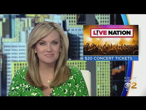 Live Nation Promotion Offers $20 Concert Tickets