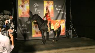 Katie Price launches new book In the Name of Love on top of a horse