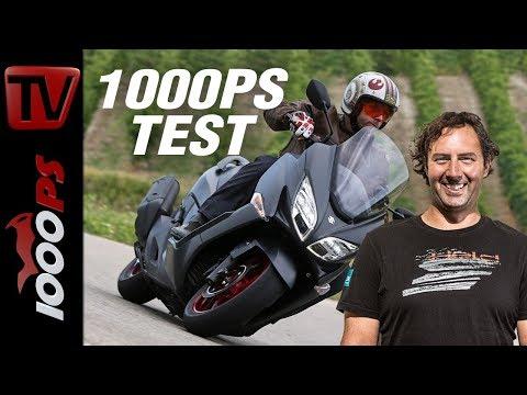 1000PS Test - Suzuki Burgman 400 2018 - der Luxus-Roller wird sportlicher