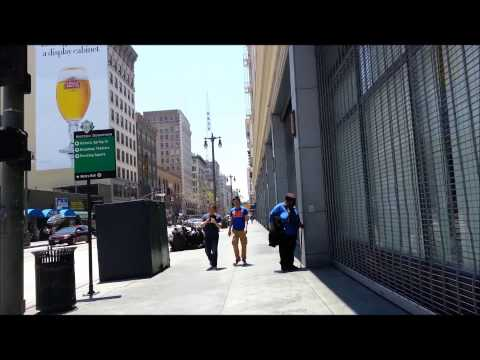 Broadway Theater District. Walking down Broadway, Downtown Los Angeles Part 1