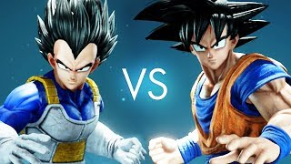 GOKU vs VEGETA IN 3D! Jump Force Beta | Pungence