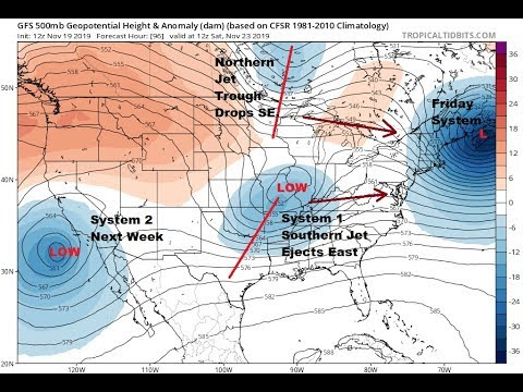 Joe Cioffi Weather Show Storm Develops Southwest US Weather Slowly Improves In The East