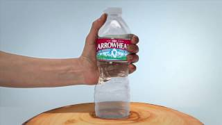 Recycling is a Beautiful Thing. Introducing the ReBorn™ Arrowhead Plastic Bottle