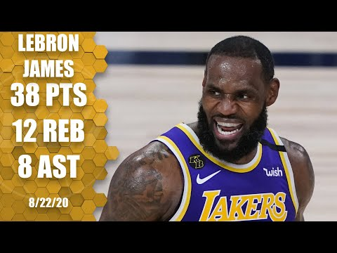 Lebron James Scores 38 For Lakers Vs Trail Blazers Game 3 Highlights 2020 Nba Playoffs E News Us