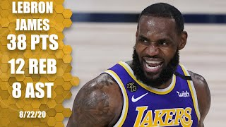 Lebron james leads the los angeles lakers with 38 points, 12 rebounds and eight assists in game 3 of their best-of-seven series vs. portland trail blazer...